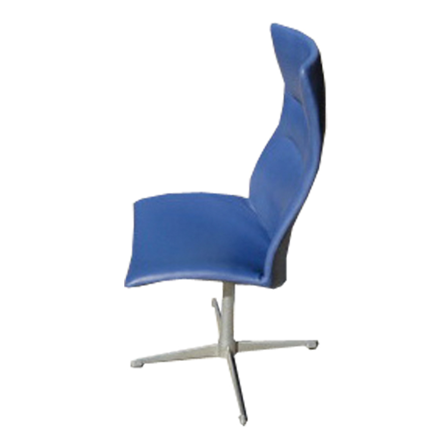 Swivel back chair by Arne Jacobson reupholstered in leather