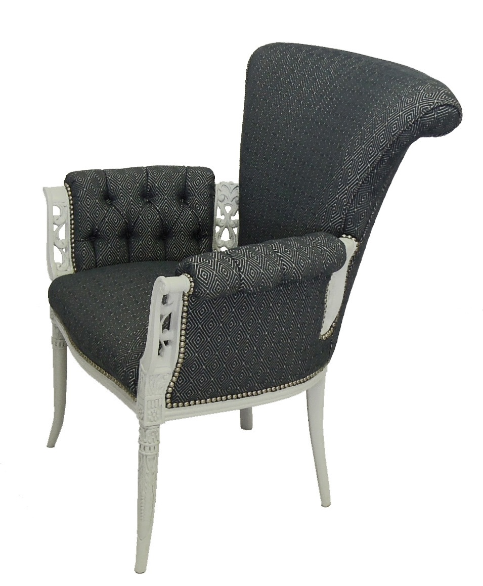 Baroque Style Chair Reupholstery