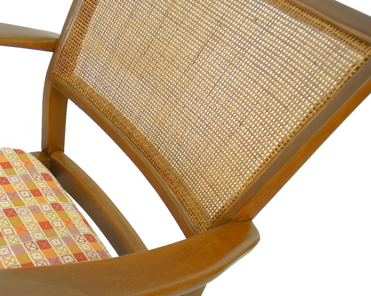 Machine Caned Wicker Chair