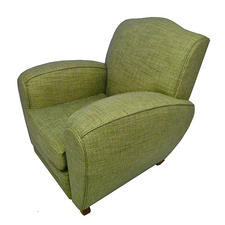 Classic Club Chair Reupholstery