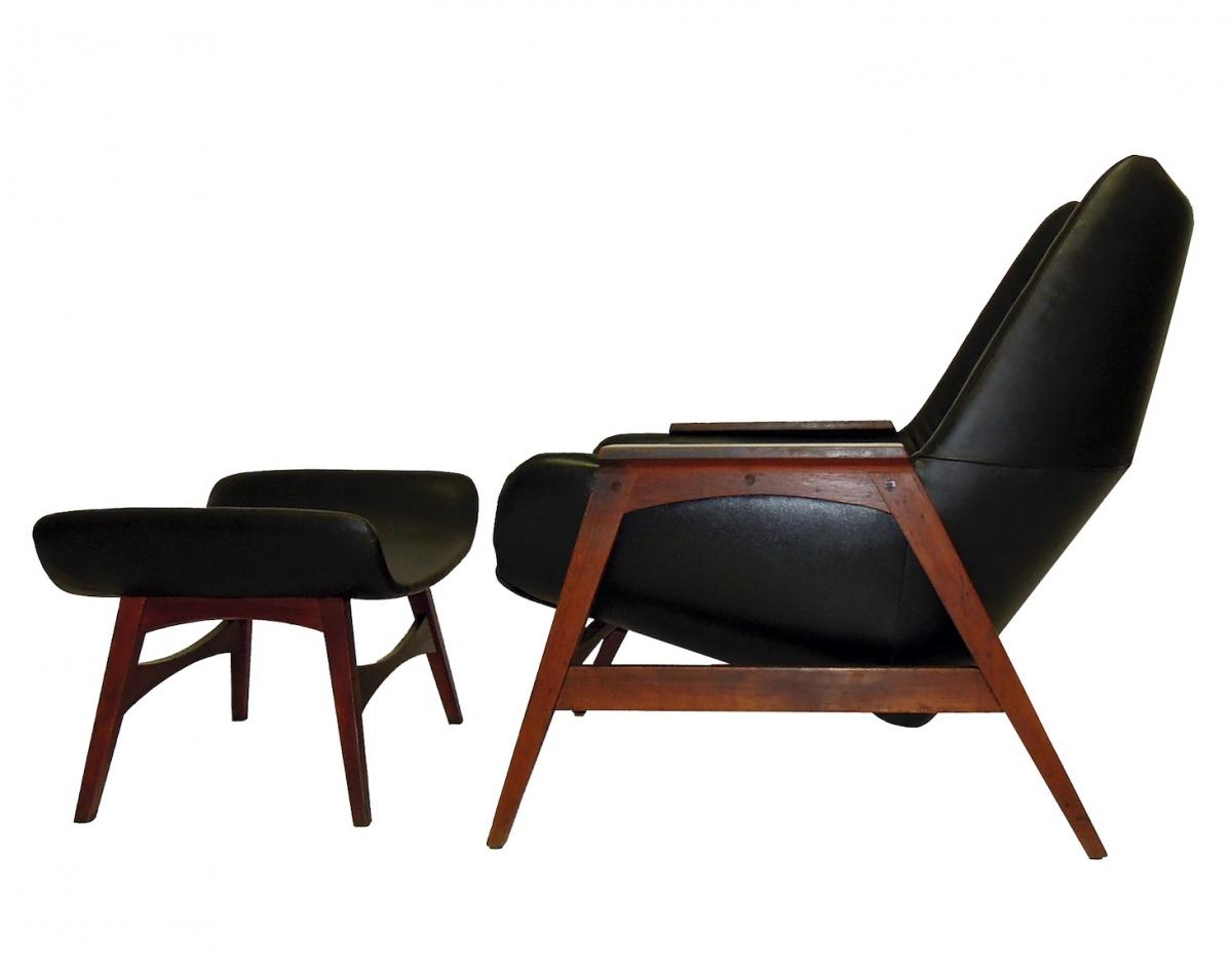 Danish Lounge Chair And Ottoman