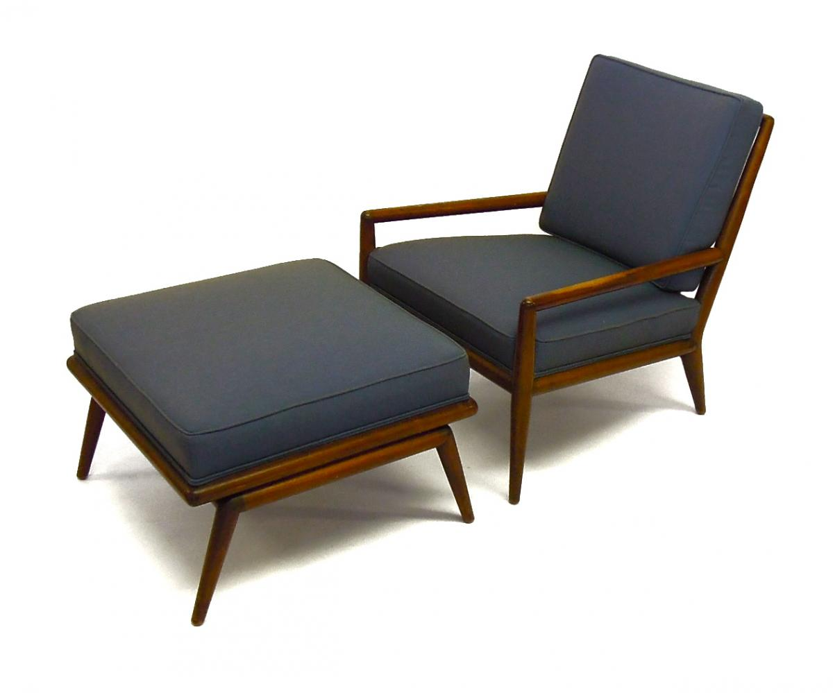Danish Lounge Chair & Ottoman