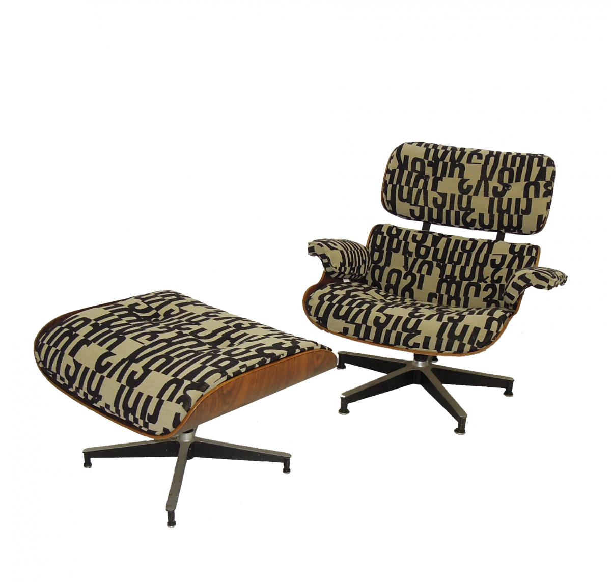 Eames Lounge Chair Reupholster Maharam Fabric MOD