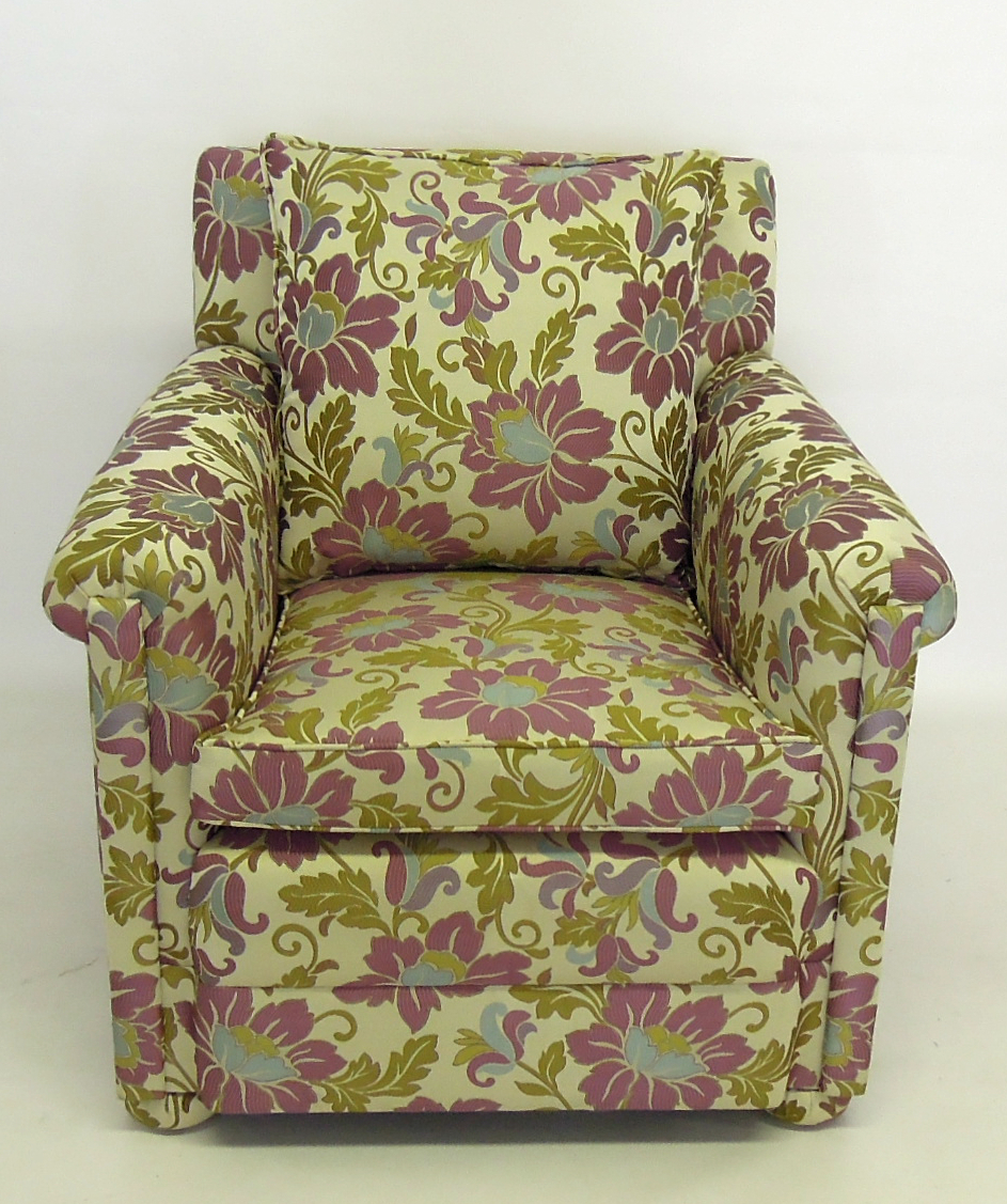 Floral Wing Chair Reupholstered