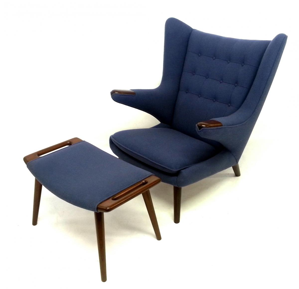 Hans Wegner Papa Bear Chair and Ottoman