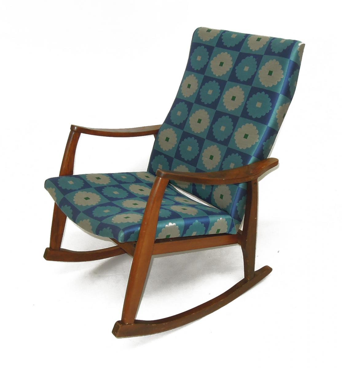 Mid Century Rocker Chair in Maharam