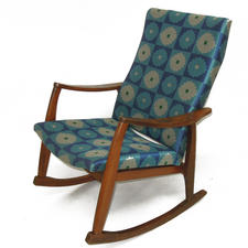 Danish Rocker Chair in Maharam Mikado