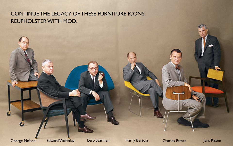 George Nelson, Wormley, Saarinen, Bertoia, Eames, Risom