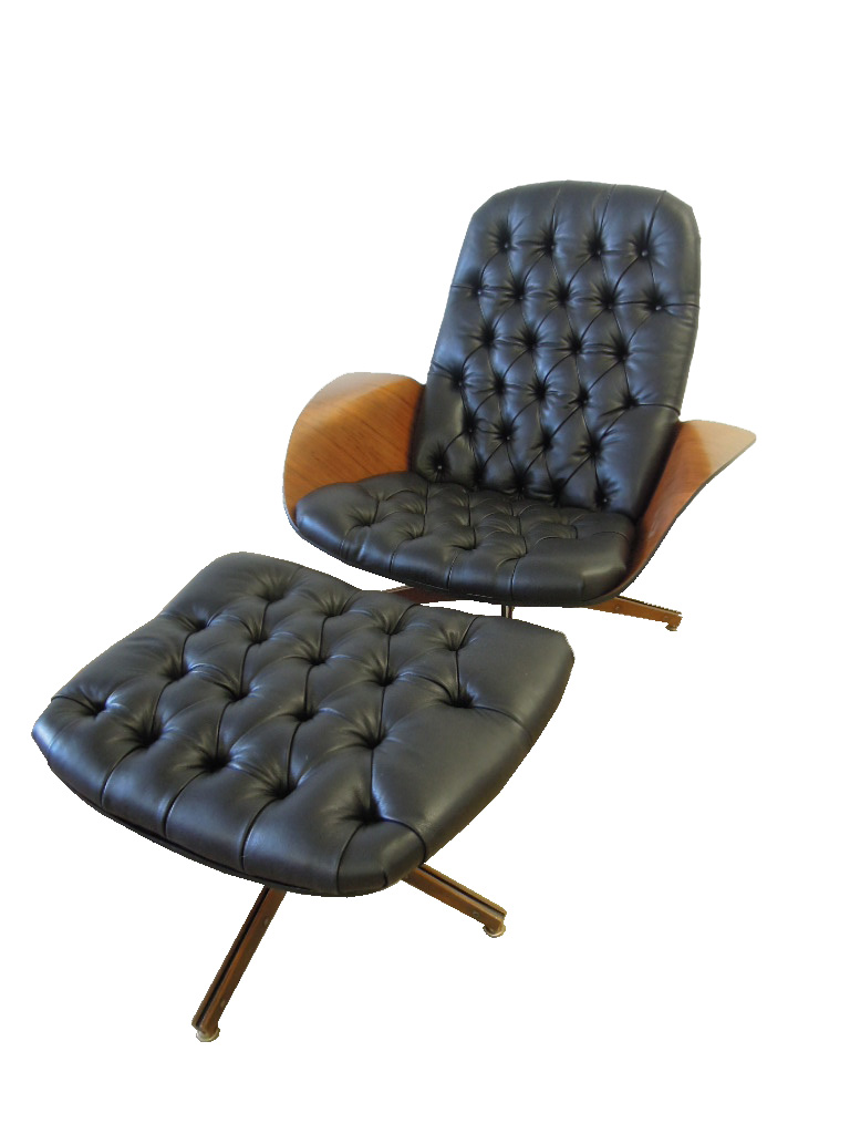 Plycraft Lounge Chair & Ottoman By George Mulhauser
