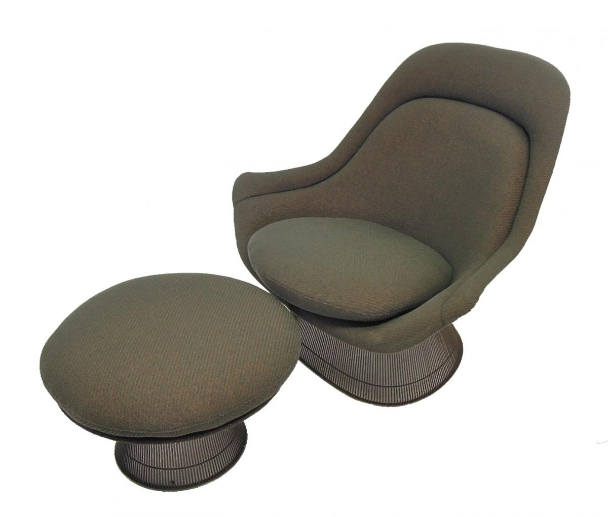 Platner Chair and Ottoman