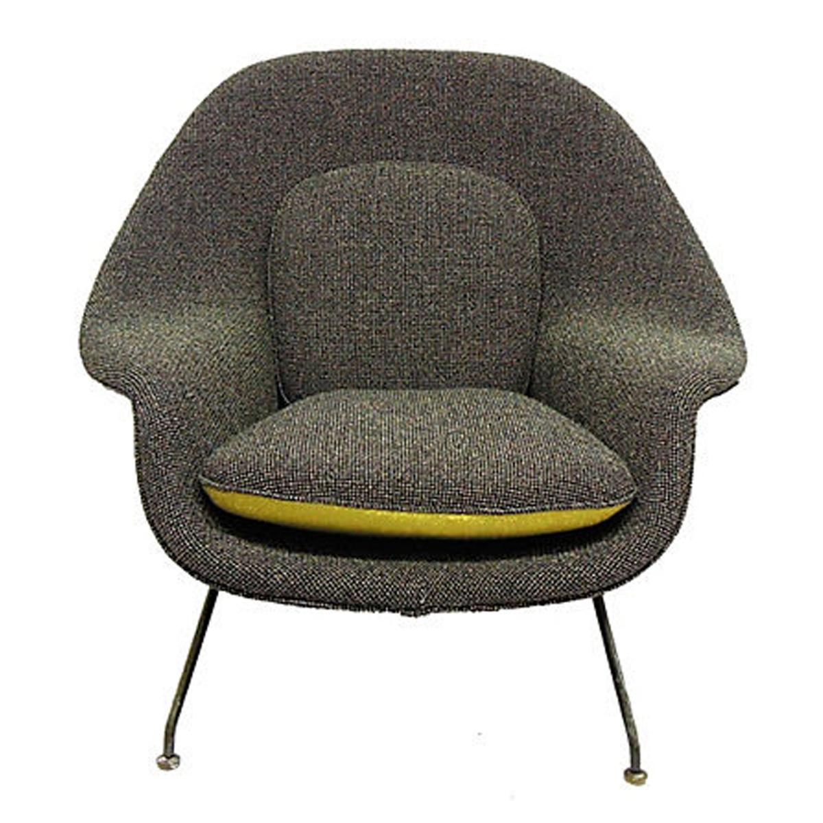 Saarinen Womb Chair Reupholstered in Maharam and Knoll
