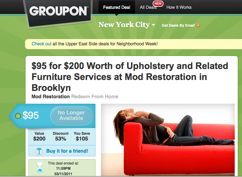 MOD Restoration Featured on Groupon