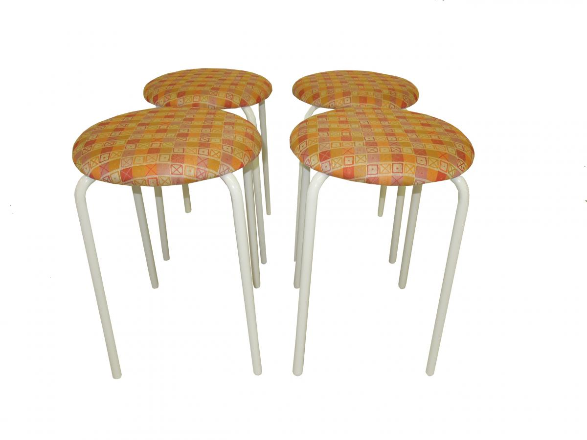 Stools in Eames Crosspatch
