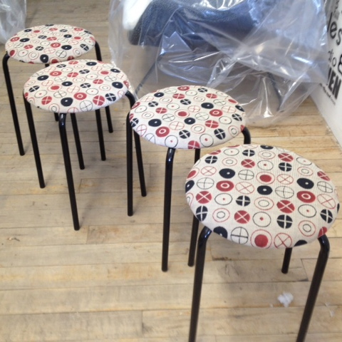 Stools in Eames Circles by Maharam